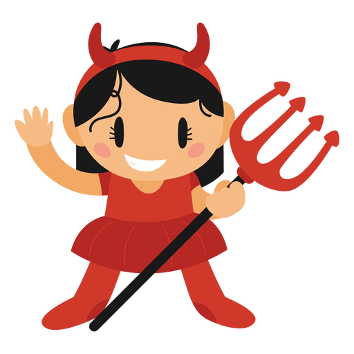 Devil halloween cartoon costume