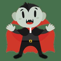Traje de halloween dos desenhos animados de Drácula