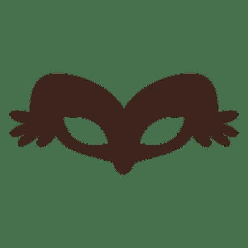 Elegant halloween mask silhouette