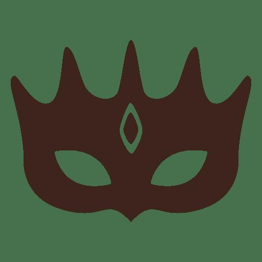 Fancy mask silhouette