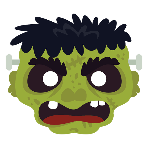 Frankestein green mask Transparent PNG