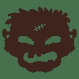 Frankestein Silhouette Maske