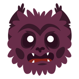 Máscara de halloween de monstruo peludo