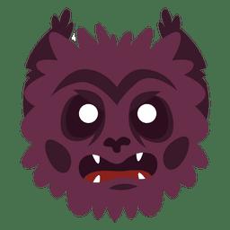 Monstruo peludo máscara de halloween