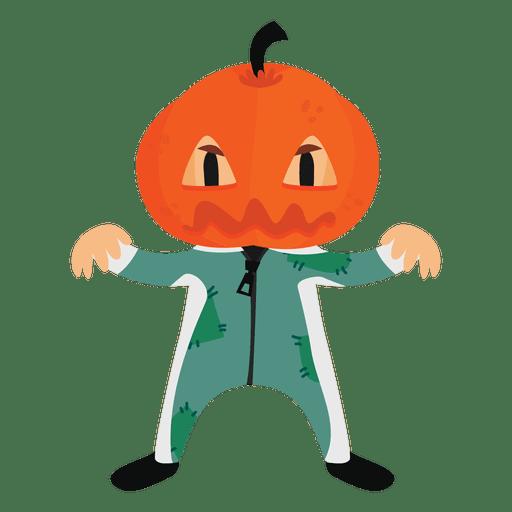 Calabaza de disfraz de dibujos animados de Halloween