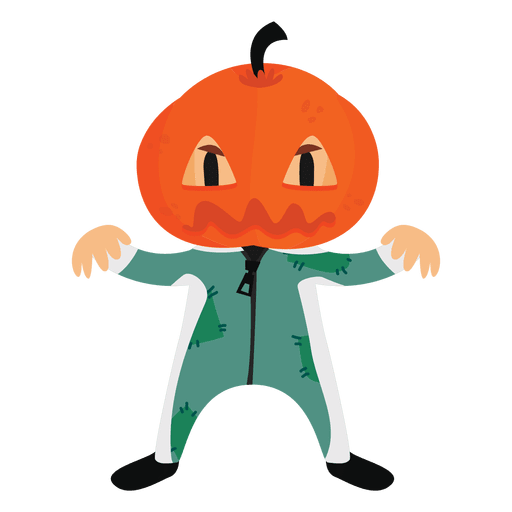 Halloween cartoon costume pumpkin