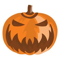 Halloween cartoon pumpkin