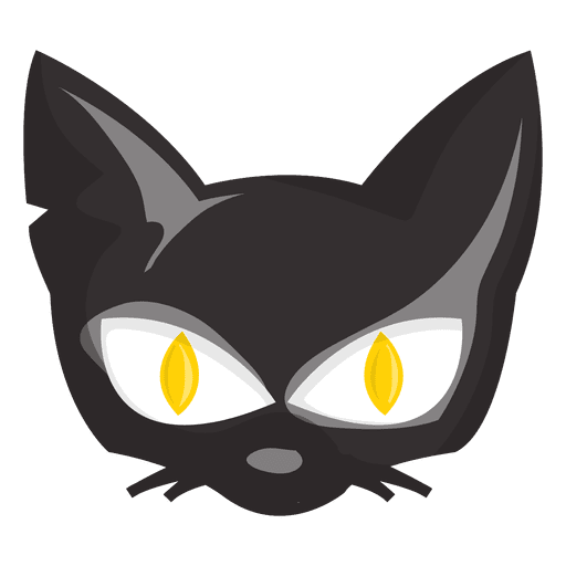 Halloween cat cartoon face - Transparent PNG & SVG vector