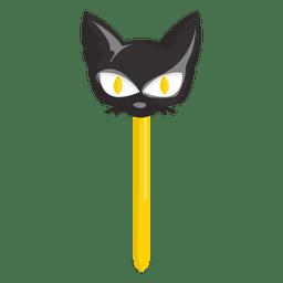 Lolypop doce do gato do Dia das Bruxas
