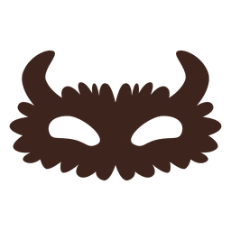 Halloween mask eyes silhouette