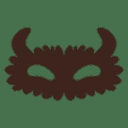 Máscara de Halloween ojos silueta