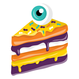 Halloween pice of cake eye decoration