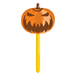 Abóbora de Halloween doce lolypop