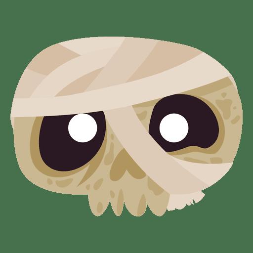 halloween skull mask bandage png