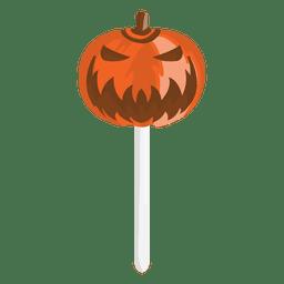 Dia das Bruxas assustador abóbora doce lolypop