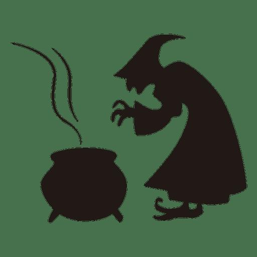 Bruja de Halloween cocina silueta Transparent PNG