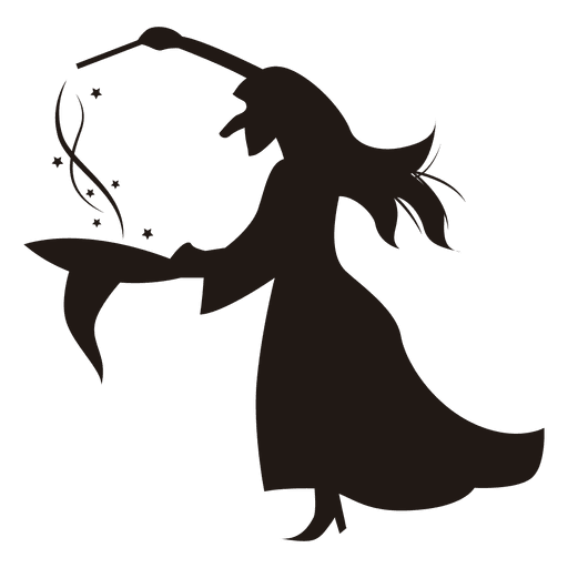Halloween witch silhouette hat