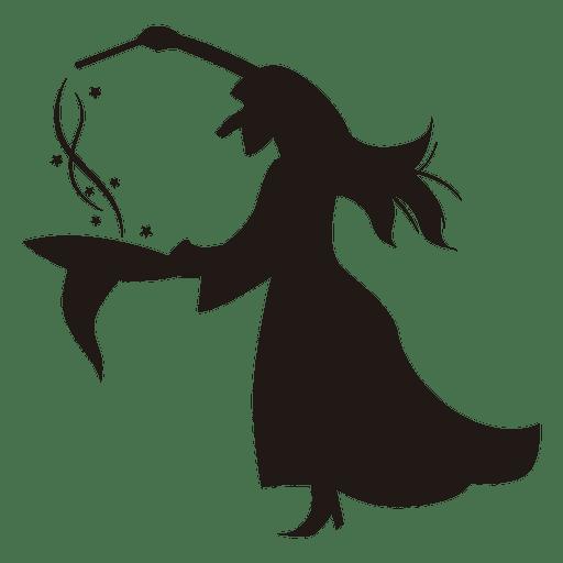 Sombrero de silueta de bruja de halloween