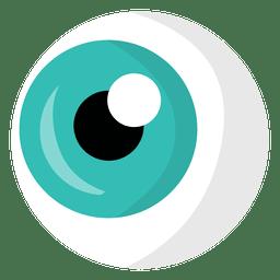 Olho de desenho animado azul claro