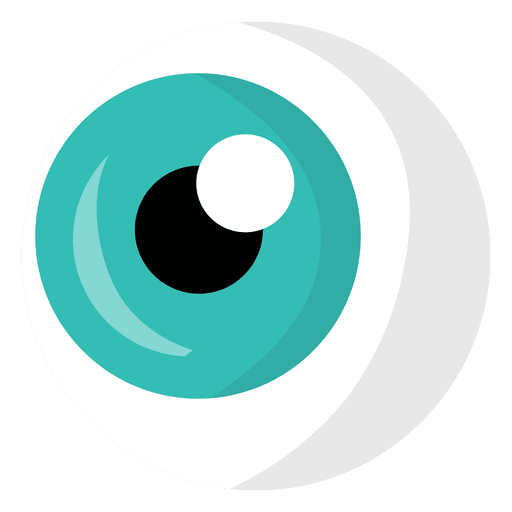 Light blue cartoon eye png
