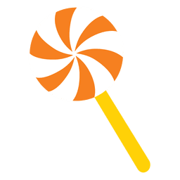 Dibujos animados de caramelo dulce de molino de lolypop