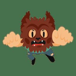 Fantasia de desenho animado de halloween de monstro