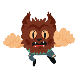 Monster halloween cartoon costume