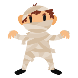 Mummy halloween cartoon costume