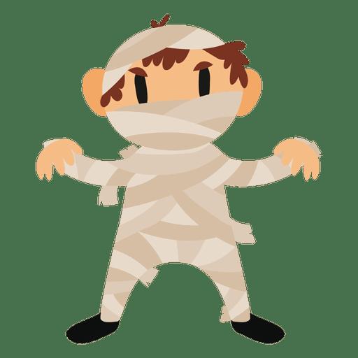 Mummy halloween cartoon costume Transparent PNG