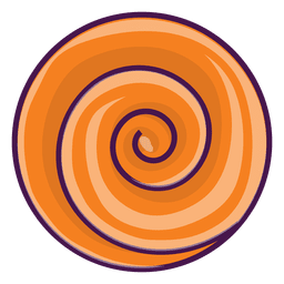 Orange cartoon swirl
