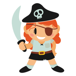 Pirate halloween costume cartoon
