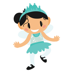 Disfraz de princesa de dibujos animados