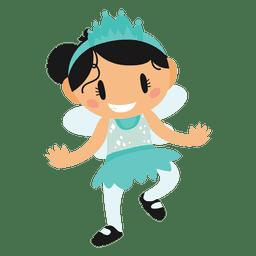 Fantasia de princesa dos desenhos animados