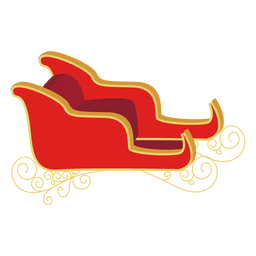 Santa sleigh illustration