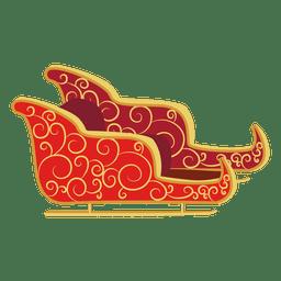 Santa sleigh curves sliding