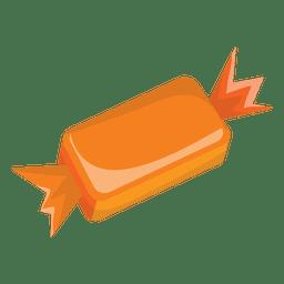 Doce de Halloween simples laranja