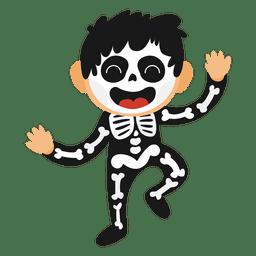 Fantasia de halloween de garoto esqueleto