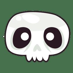 Máscara de Halloween do crânio