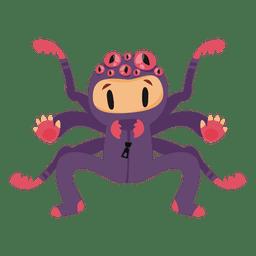 Desenho de fantasia de halloween de aranha