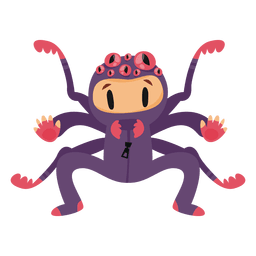 Spider halloween costume cartoon