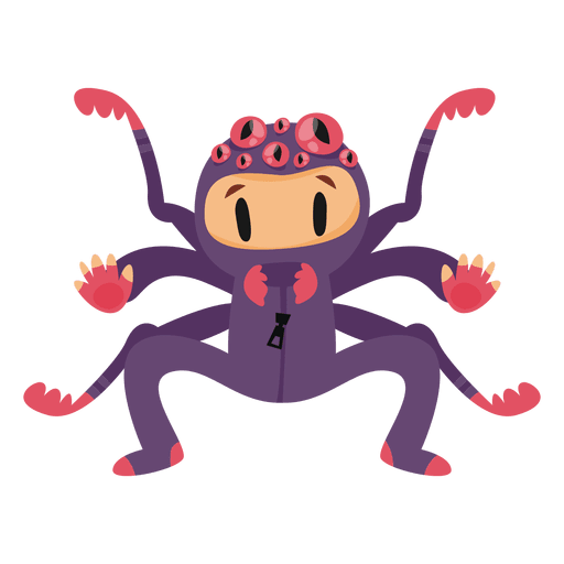 Spider halloween costume cartoon Transparent PNG