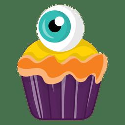 Spooky Cupcake mit Augen