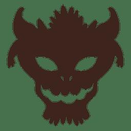 Gruselige Halloween-Maske