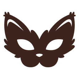 Máscara elegante do gato do Dia das Bruxas