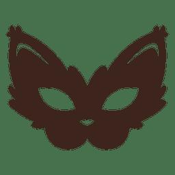 Máscara de gato elegante do dia das bruxas