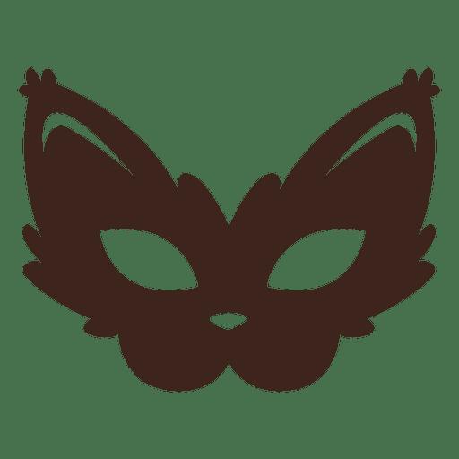 Stylish halloween cat mask Transparent PNG