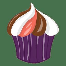 Sabroso colorido cupcake de halloween