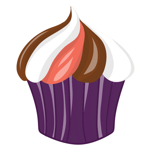 Tasty colorful halloween cupcake Transparent PNG