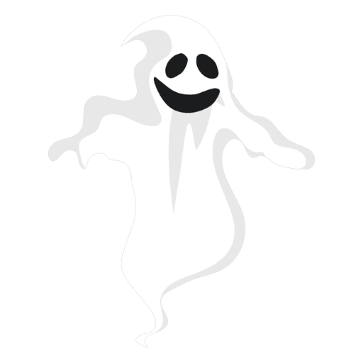 White ghost silhouette 13 Transparent PNG