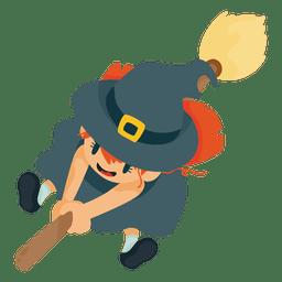 Traje de desenho animado da bruxa de Halloween